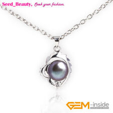 16x22mm Natural Pearl White Gold Plated Pendant Necklace Fashion Jewelry Gift
