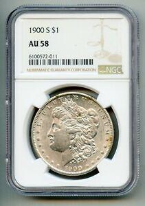 1900 S Morgan Silver Dollar NGC AU 58