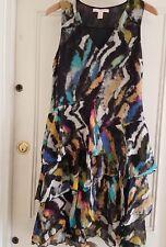 Matthew Williamson for H&M Silk Ruffle Dress Summer Party Dress US6 UK10