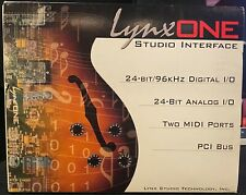 Lynx One Studio Interface Aes/Ebu Pci Audio Card with Original Cables