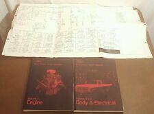 1973 Ford Truck Shop Manual Engine Body Electrical Vol 2 3 4 + Bronco Schematics