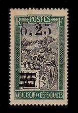 MADAGASCAR - Scott 134 - 1921 - 25c On 45c Green & Black - MNH