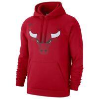 New 2019-2020 Nike Chicago Bulls Icon Edition Club Logo Pullover Fleece Hoodie