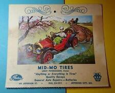 RARE VINTAGE 1940-50's GREETING CARD - MID-MO TIRES - JEFFERSON CITY MO - GATES
