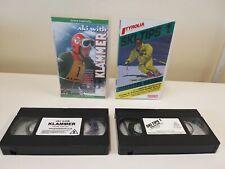 ski with klammer and Ski Tips 1 VHS tapes Parallel Skiing Martin Heckelman