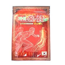 40 Pack 800 Pcs Korean Power Red Ginseng Pain Relief Patch Saponin Plaster Pads