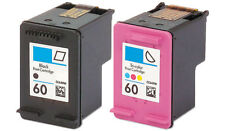 2-pk For HP60 Blk & Clr Ink For HP Photosmart C4600 C4700 D110a Series