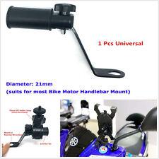 Motorcycle Phone GPS Handle Bar USB Charger Holder Extender Bracket Mount Clamp