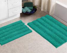 Bathroom Rugs By Zebrux Set Of 2 extra-Soft Striped Non-Slip Shower Bath Mat set