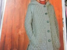 """Knitting Pattern Baby Girl Boy Jacket with Hood and Pockets 24-32"""" DDK Vintage"""
