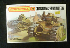 Matchbox WW2 Char & Renault French Tanks Model Kit 1/76 Scale