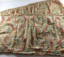 Raymond Waites Jacobean Blue Set of 2 King Size Shams Boho Style Cotton Sateen