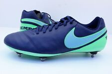 NIKE TIEMPO GENIO II Cuir SG Homme Chaussures De Football Taille UK 8