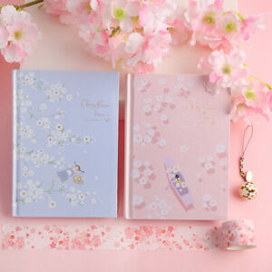 """""""Cherry Blossom"""" 1pc Hard Cover Diary Beautiful Notepad Girls Journal Notebook"""