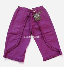 Matilda Jane FANCY PANTS Ruffles 4 Purple Linen Blend Pants Wonderful Parade NWT