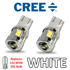 Fits FORD LED Side Light SUPER BRIGHT Bulbs 3w CREE W5W 501 T10 250LM – White