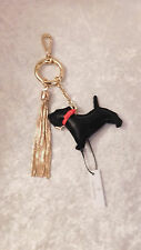 VERA BRADLEY CHARMING SCOTTIE DOGS BAG CHARM LEATHER PURSE TOTE NWT SOLD OUT