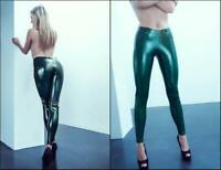 Latex Jeans Rubber Gummi Trousers Female Green Pants Party Dress Customized 0.4m