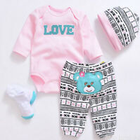 "20""- 22"" Reborn Baby Dolls Clothes Cute Toddler Baby Girl Doll Clothing Sets New"
