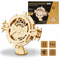 ROBOTIME DIY Model Building Kits Wooden Educational Toy for Children Calendar