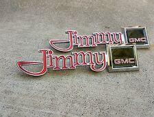NOS 1976-80 GMC JIMMY FENDER EMBLEM SET 77 78 79