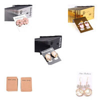 100 Jewelry Holder Plastic Earring Ear Studs Display Hang Cards ProfessionaODFS