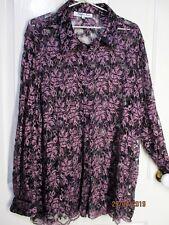 Ladies Plus Sized 24 Purple Lace Long Sleeved Shirt