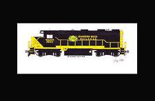 "Kanawha River Railroad (Watco) GP39-2 11""x17"" Matted Print Andy Fletcher signed"