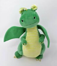 """Bunnies By The Bay Dragon Plush Green Yellow Sparkle 9"""" Soft Toy Stuffed Animal"""