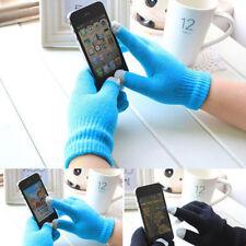 2Pair Lot Touch Screen Gloves Men Women Stretch Knit Mittens Winter Warm Gloves