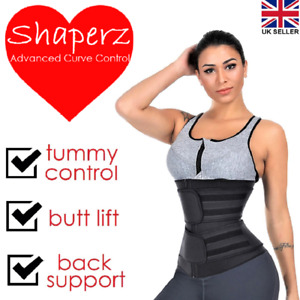 UK Waist Trainer Tummy Cincher Sauna Sweat Sports Body Shaper Stomach Slim Belt