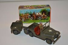 Tekno 814 Military Jeep with trailer perfect mint in box superb