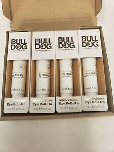 Four Pack New AGE DEFENSE EYE ROLL-ON BULL DOG SKINCARE FOR MEN .5 fl oz