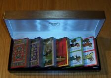 Congress Vintage Playing Cards Six Unsealed Sets Hinged Box Ships Cars Oriental