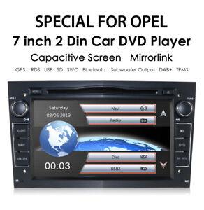 "7"" Car Bluetooth GPS Sat-Nav Radio CD DVD Player USB Stereo For Vauxhall Corsa D"