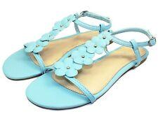 02b040f8354 Caleb-10 Floral Stone Flat Cute Comfort Sandals Party Women Shoes Powder  Blue