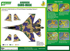 J's Work Airbrush Camo-Mask for 1/72 Sukhoi Su-35 Flanker Camouflage Scheme 2