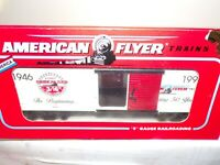 AMERICAN FLYER S GAUGE MINT # 6-48324 50TH ANNIVERSATY COMMEMORATIVE BOXCAR