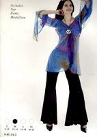 Ladies RETRO CHICK FANCY DRESS Hippie 60'S 70'S Womens Costume NEW