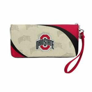 Ohio State Buckeyes Curve Zip Organizer Ladies Wallet NCAA