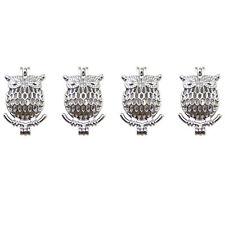 5pcs Antique Silver 3D Hollow Owl Shaped Alloy Locket Necklace Pendants Charms