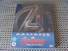 Blu Steel 4 U Avengers Age of Ultron 3d & 2d Ltd Ed Steelbook 2 Discs