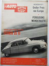 Auto Motor Sport 17/1961, Citroen DS 19, Fergusons Wunderauto,