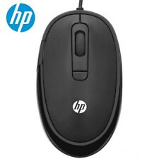8593ef82911 HP FM310 black wired mouse 2400DPI Silica gel roller support PC Laptop