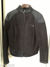 UGG WOMEN MURRAY BLACK LEATHER SHEARLING BIKERS JACKET COAT Size XL (12-14) -TAG