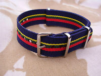 Royal Marines Commando/SBS/RM/CTC Corps Stable Belt Colours Military Watch Strap