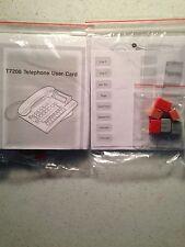 NEW Nortel Norstar Meridian T7208 Lit Button Pack Labels User Card Plastics