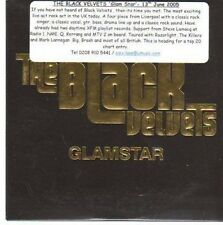 (CE272) The Black Velvets, Glamstar - 2005 DJ CD