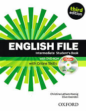 ENGLISH FILE Intermediate THIRD EDIT Student Book w DVD-ROM & ONLINE SKILLS @New