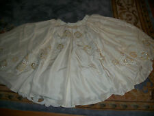 WOMEN PLUS SIZE 24/26 BEADED BRIDAL WEDDING DRESS SKIRT EVENING FORMAL PROM OOAK